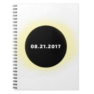 Caderno Espiral Eclipse solar total