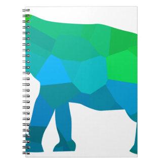 Caderno Espiral Elefante 1 do mosaico