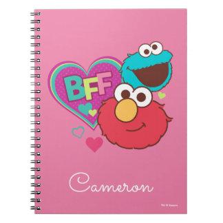 Caderno Espiral Elmo & monstro do biscoito - BFF
