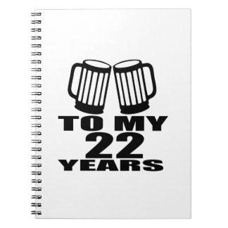 Caderno Espiral Elogios a meus 22 anos do aniversário
