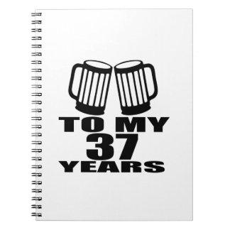 Caderno Espiral Elogios a meus 37 anos do aniversário