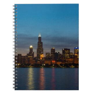 Caderno Espiral Em torno de Willis na noite