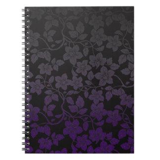 Caderno Espiral Embaçamento roxo