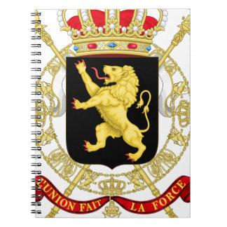 Caderno Espiral Emblema belga - brasão de Bélgica