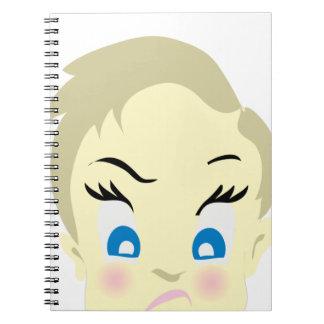 Caderno Espiral emoji do bebê - agressivo