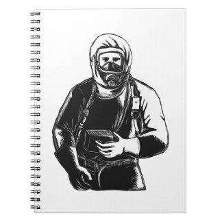 Caderno Espiral EMT que veste o terno Scratchboard de Hazmat