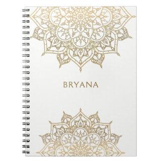 Caderno Espiral Encanto moderno do encanto chique branco da