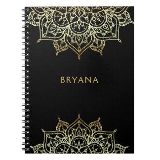 Caderno Espiral Encanto moderno do encanto chique do preto da