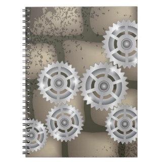 Caderno Espiral engrenagens