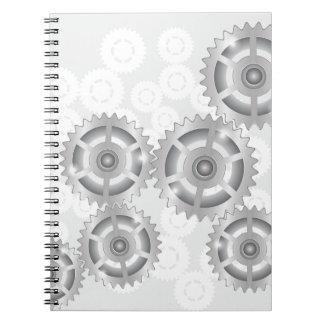 Caderno Espiral engrenagens ajustadas
