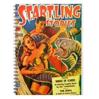 Caderno Espiral Enguia Dois-dirigida assustador do espaço