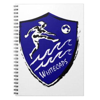 Caderno Espiral Equipe de futebol das mulheres de Whitecaps