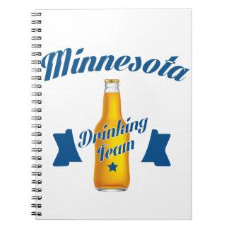 Caderno Espiral Equipe do bebendo de Minnesota