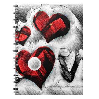 Caderno Espiral Esboço do amor