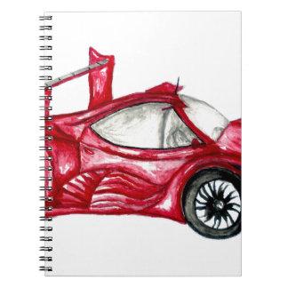 Caderno Espiral Esboço do carro desportivo