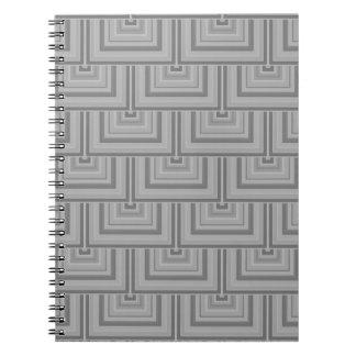 Caderno Espiral Escalas cinzentas do quadrado