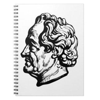 Caderno Espiral Escritor alemão Goethe