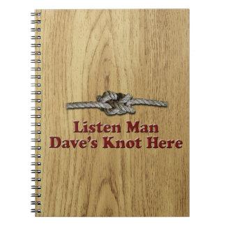 Caderno Espiral Escutam os Multi-Produtos do nó de Dave do homem