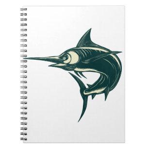 Caderno Espiral Espadim azul atlântico Scraperboard