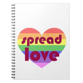 Caderno Espiral Espalhe o amor alegre
