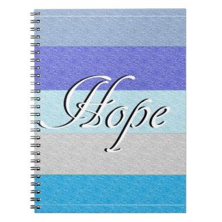 Caderno Espiral ESPERANÇA no azul