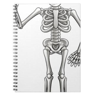 Caderno Espiral Esqueleto dos desenhos animados