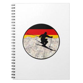 Caderno Espiral Esqui Alemanha