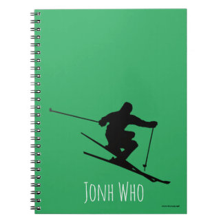 Caderno Espiral Esquiador