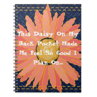 Caderno Espiral Esta margarida em meu planejador do bolso