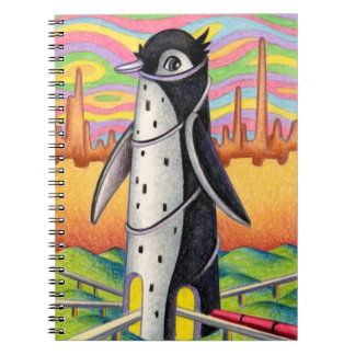 Caderno Espiral Estação do pinguim