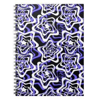 Caderno Espiral Estrela branca, azul, preto 2