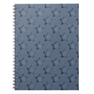 Caderno Espiral Estrelas azuis