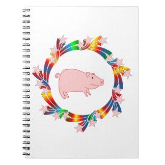 Caderno Espiral Estrelas do porco