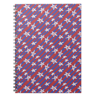 Caderno Espiral Estrelas em listras
