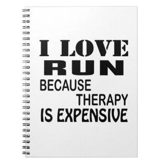 Caderno Espiral Eu amo o funcionamento porque a terapia é cara