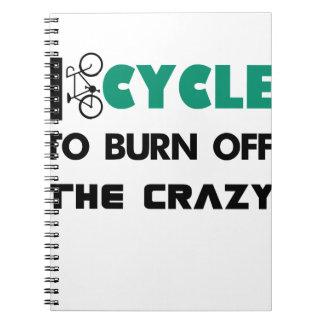 Caderno Espiral Eu dou um ciclo para consumir a louca, bicicleta