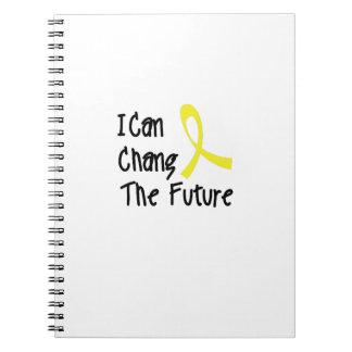 Caderno Espiral Eu posso a consciência futura do cancer da