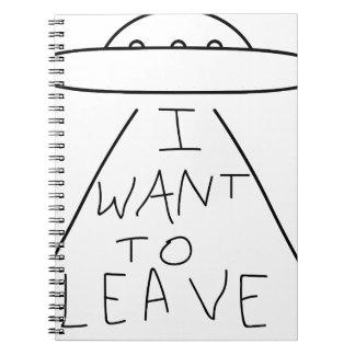 Caderno Espiral eu quero sair