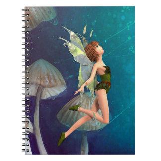 Caderno Espiral Fada bonito