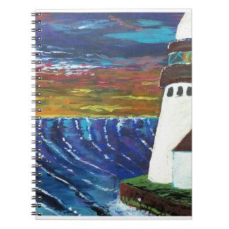 Caderno Espiral Farol por Patsmack