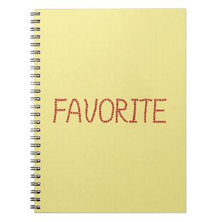 Caderno espiral favorito