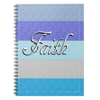 Caderno Espiral Fé no azul