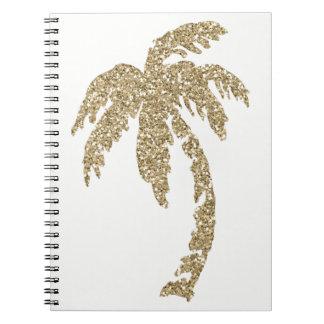 Caderno espiral feito sob encomenda da palmeira
