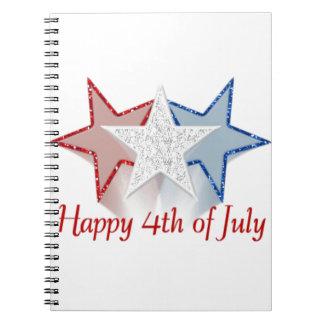 Caderno Espiral Feliz 4o julho