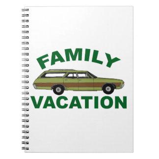 Caderno Espiral férias em família 80s