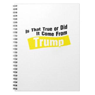 Caderno Espiral Fez vem do trunfo engraçado