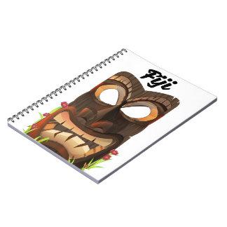 Caderno Espiral Fiji cinzelou a máscara