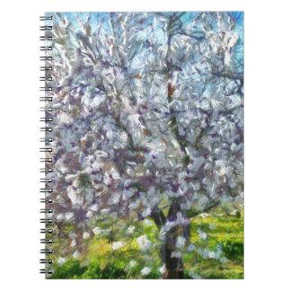 Caderno Espiral Flor da amêndoa