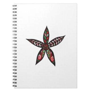 Caderno Espiral Flor do Natal