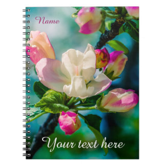 Caderno Espiral Flor e botões de Crabapple